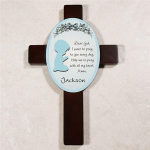 Boy's Bedroom Personalized Prayer Cross-Personalized Gifts