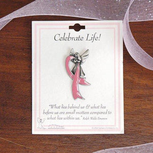 Breast Cancer Awareness Lapel Pin - Celebrate Life-Personalized Gifts