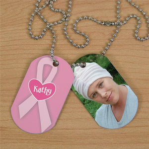 Breast Cancer Photo Dog Tags-Personalized Gifts