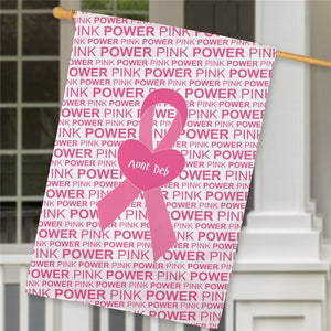Breast Cancer pink house flag-Personalized Gifts