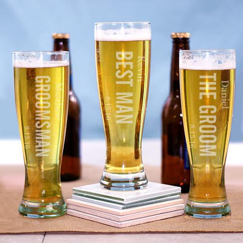 Bridal Party Pilsner Glass-Personalized Gifts