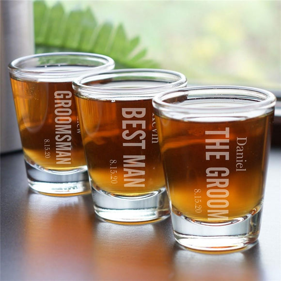 Bridal Party Shot Glass-Personalized Gifts
