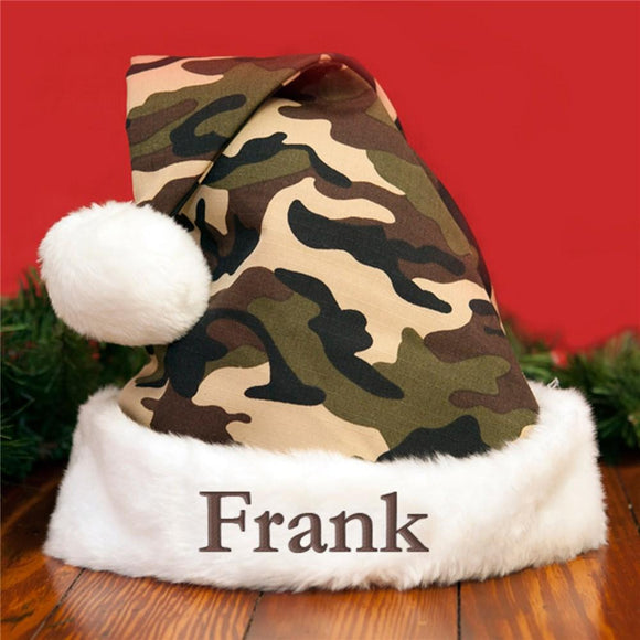 Camo Embroidered Santa hat-Personalized Gifts