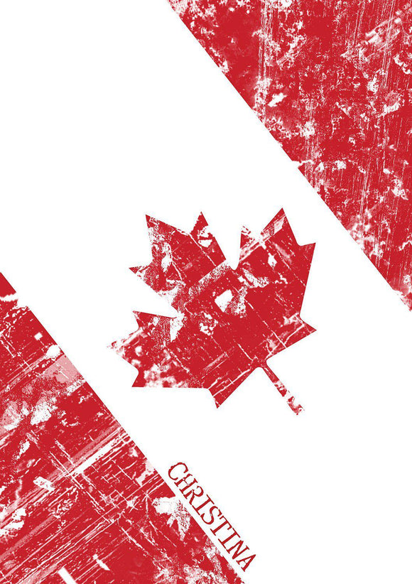 Canadian Flag Notebook-Personalized Gifts
