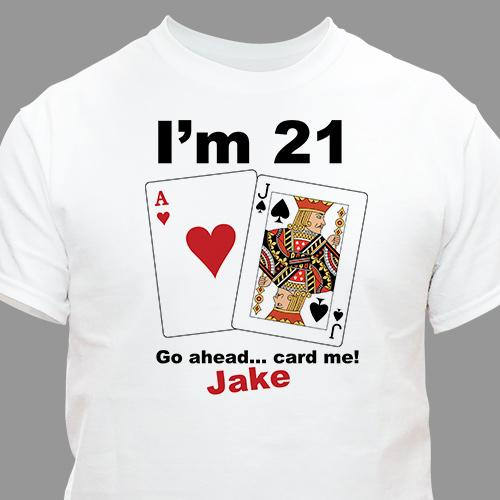 Card Me Personalized 21st Birthday T-Shirt-Personalized Gifts