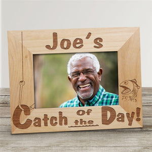 Catch of the Day Wood Picture Frame-Personalized Gifts