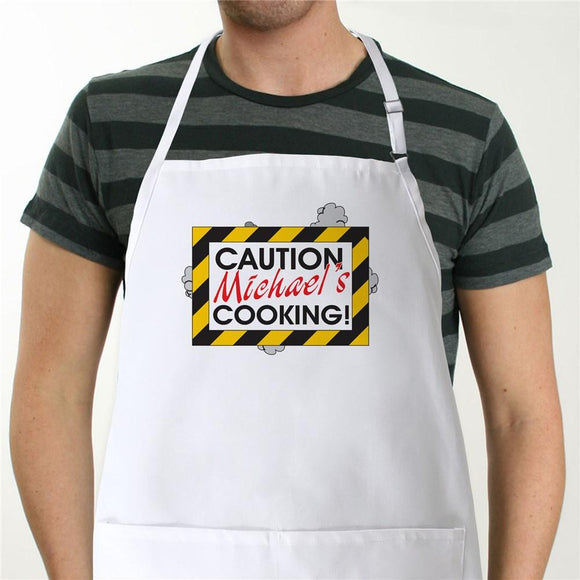 Caution Apron - Novelty Apron-Personalized Gifts