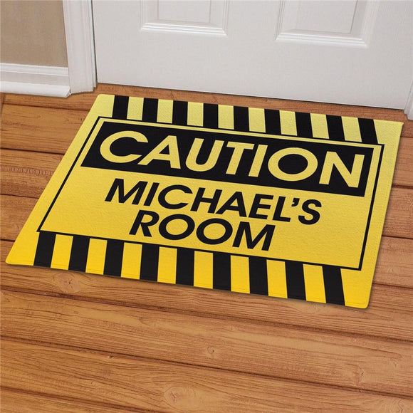 Caution Personalized Doormat-Personalized Gifts
