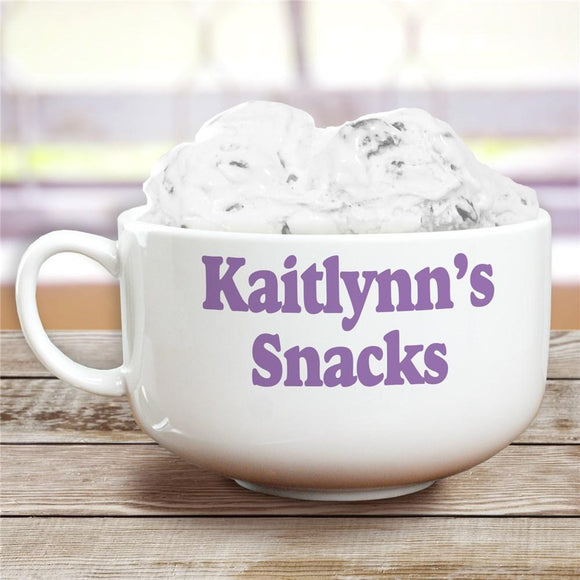 Ceramic Any Message Personalized Cereal Bowl-Personalized Gifts