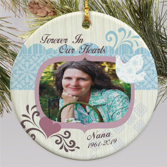 Ceramic Memorial Photo Ornament-Personalized Gifts