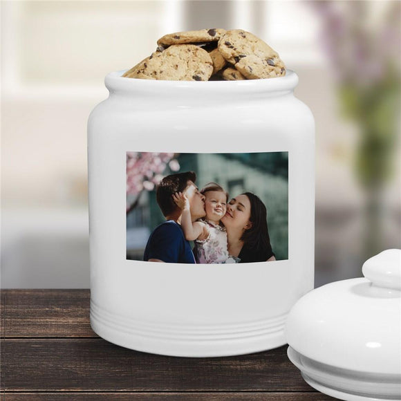 Ceramic Photo Cookie Jar-Personalized Gifts
