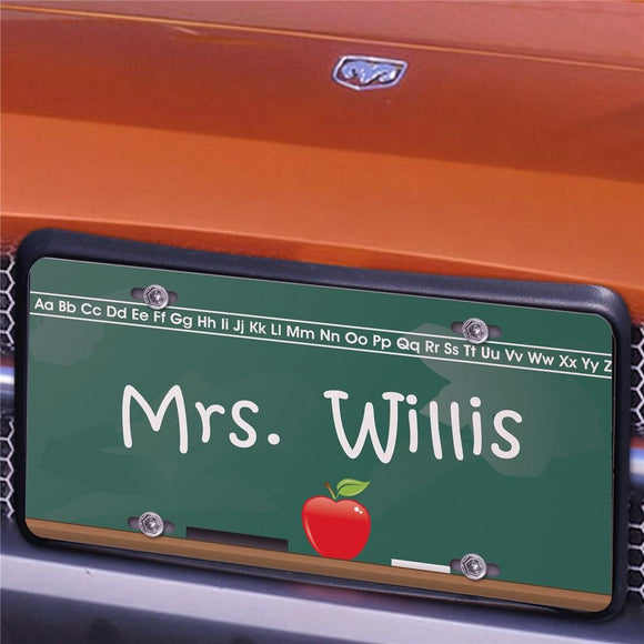 Chalkboard Teacher License Plate-Personalized Gifts