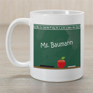 Chalkboard Teacher White Coffee Mug-Personalized Gifts