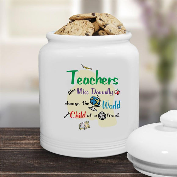 Change The World Ceramic Cookie Jar-Personalized Gifts