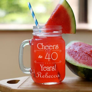 Cheeers! Birthday Mason Jar-Personalized Gifts