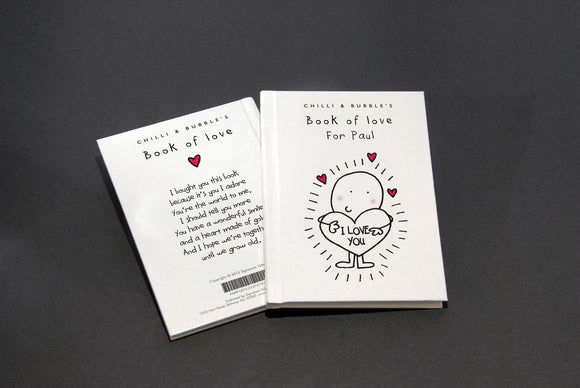 Chilli and Bubble's Personalized Book of Love-Personalized Gifts