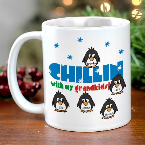 Chillin' Penguin Personalized Winter Coffee Mug-Personalized Gifts