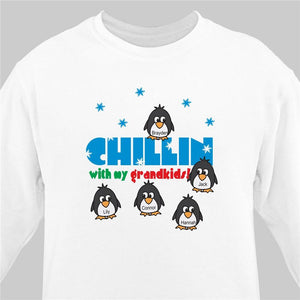 Chillin with my Penguins Personalized Sweatshirt-Personalized Gifts