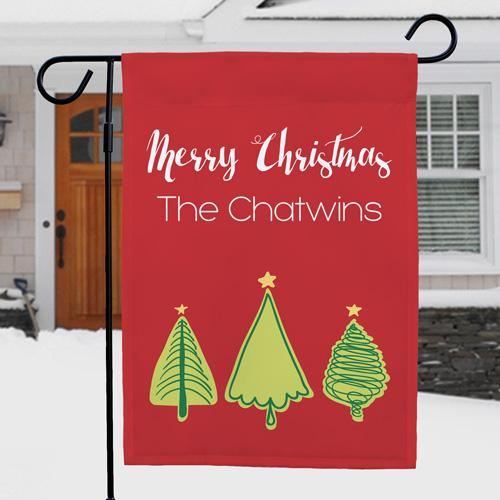 Christmas Tree Personalized Garden Flag-Personalized Gifts
