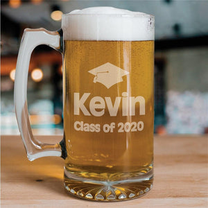 Class of Graduation Glass Mug-Personalized Gifts