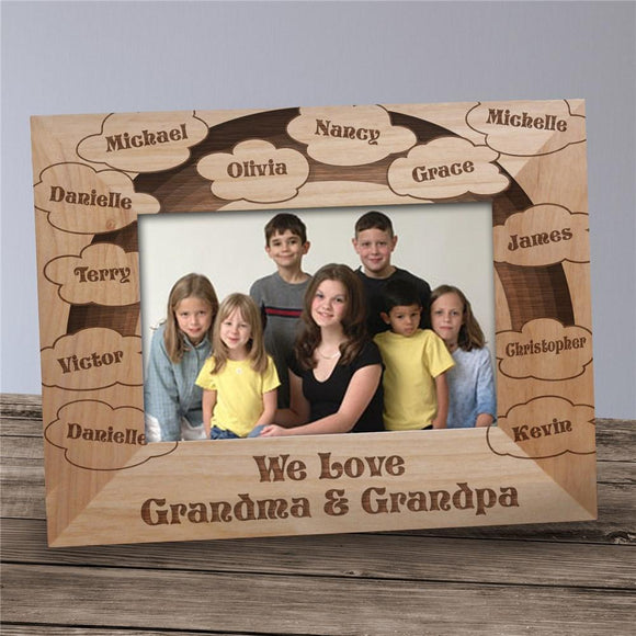 Clouds of Love Wood Picture frame-Personalized Gifts