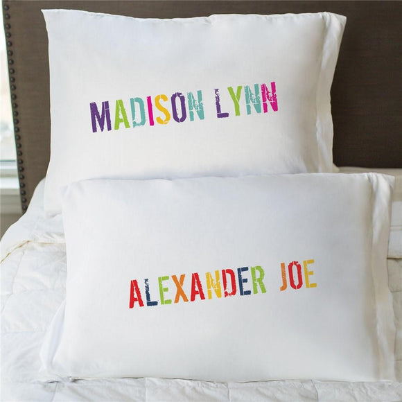 Colorful Name Pillowcase-Personalized Gifts