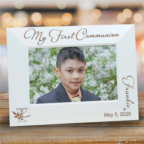 Communion White frame-Personalized Gifts