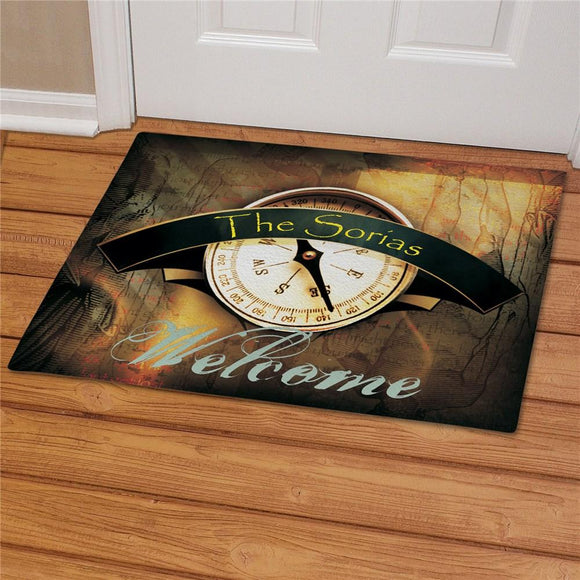 Compass Doormat-Personalized Gifts