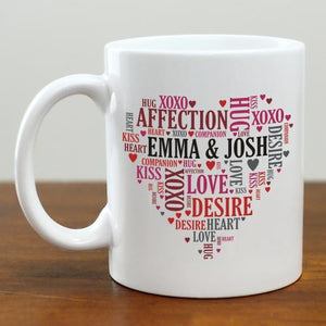 Couples Heart Mug-Personalized Gifts