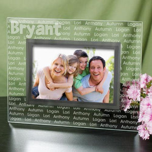 Custom Family Name Glass Frame-Personalized Gifts