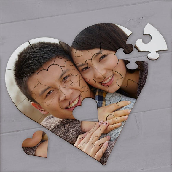 Custom Heart Photo Puzzle-Personalized Gifts