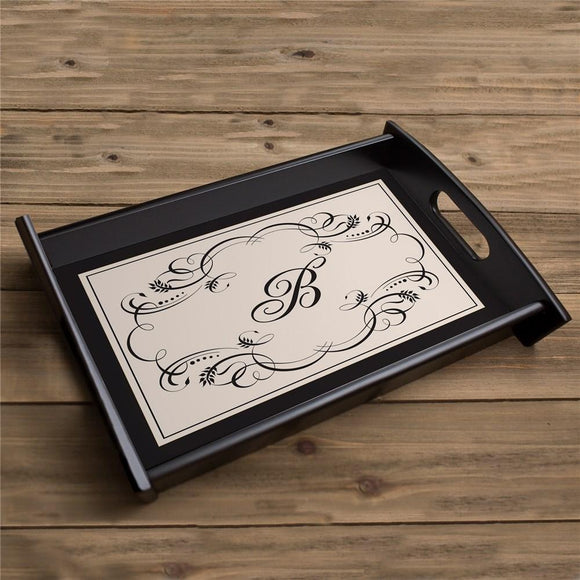 Custom Initial Serving Tray-Personalized Gifts
