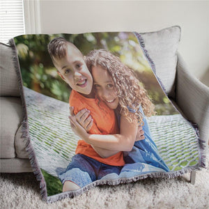 Custom Photo Tapestry Throw-Personalized Gifts