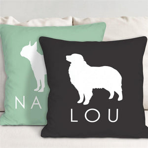 Dog Breed Personalized Throw Pillow-Personalized Gifts