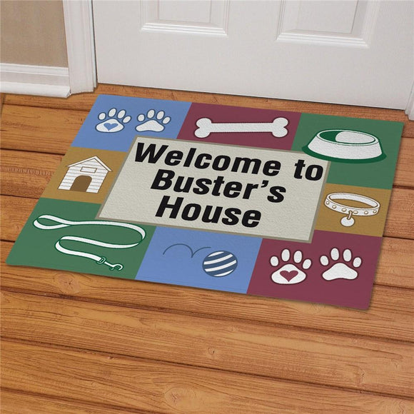 Doggy's House Personalized Pet Doormat-Personalized Gifts