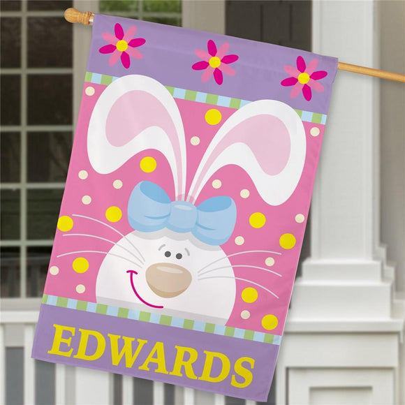 Easter Bunny House Flag-Personalized Gifts