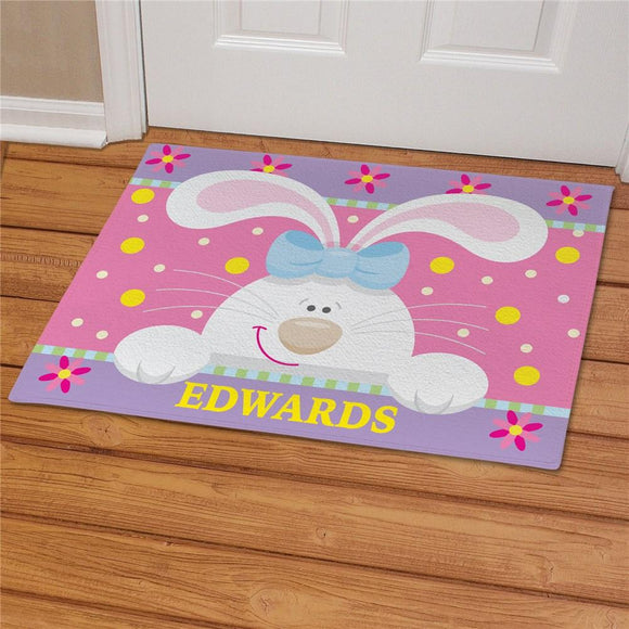Easter Bunny Personcalized Doormat-Personalized Gifts