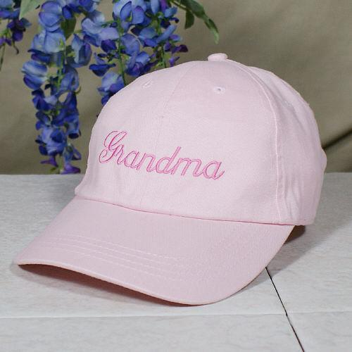 Embroidered Any Name Pink Hat-Personalized Gifts