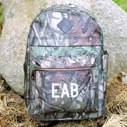 Embroidered Camo Computer Backpack-Personalized Gifts