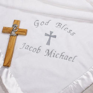 Embroidered Christening Blanket-Personalized Gifts