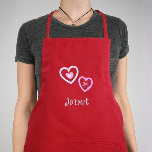 Embroidered Hugs and Kisses Kitchen Apron-Personalized Gifts