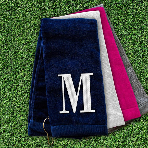 Embroidered initial Golf Towel-Personalized Gifts