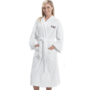 Embroidered Initials Bathrobe-Personalized Gifts
