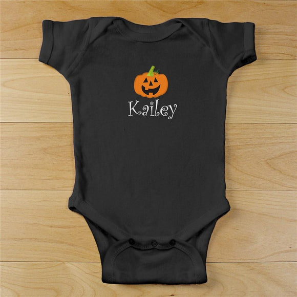 embroidered pumpkin black creeper-Personalized Gifts