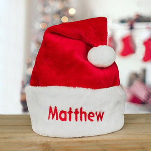 Embroidered Santa Hat-Personalized Gifts