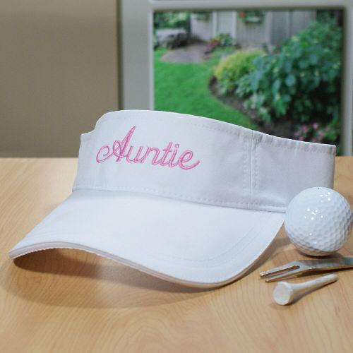 Embroidered Woman's Visor-Personalized Gifts