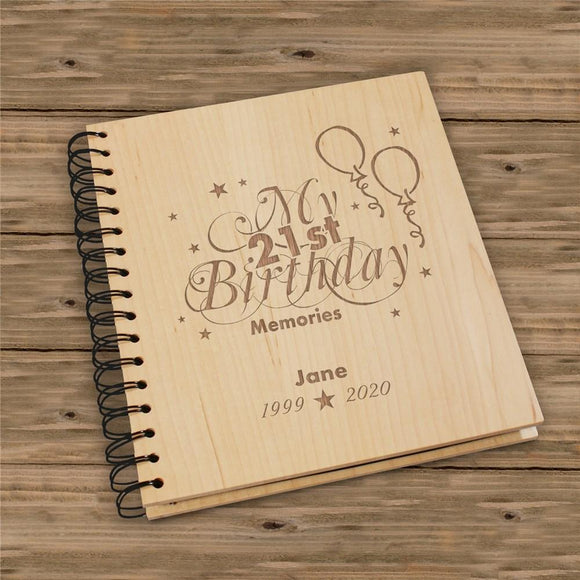 Engraved 21st Birthday Memories Photo Album-Personalized Gifts