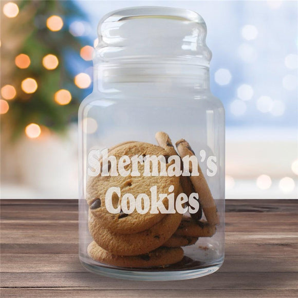 Engraved Any Message Glass Cookie Jar-Personalized Gifts