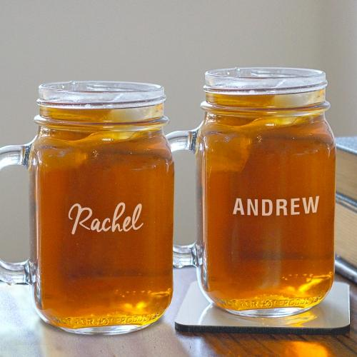 Engraved Any Name Mason Jar-Personalized Gifts