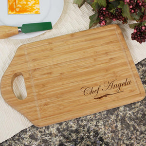 Engraved Bamboo Chef Cheese Carving Board-Personalized Gifts